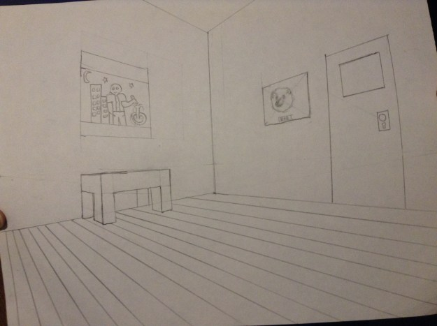room 2 point perspective