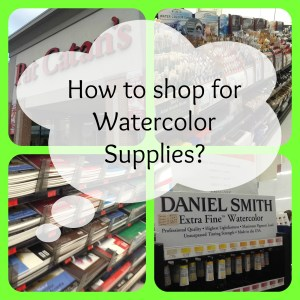 How to shop for watercolor supplies graphic