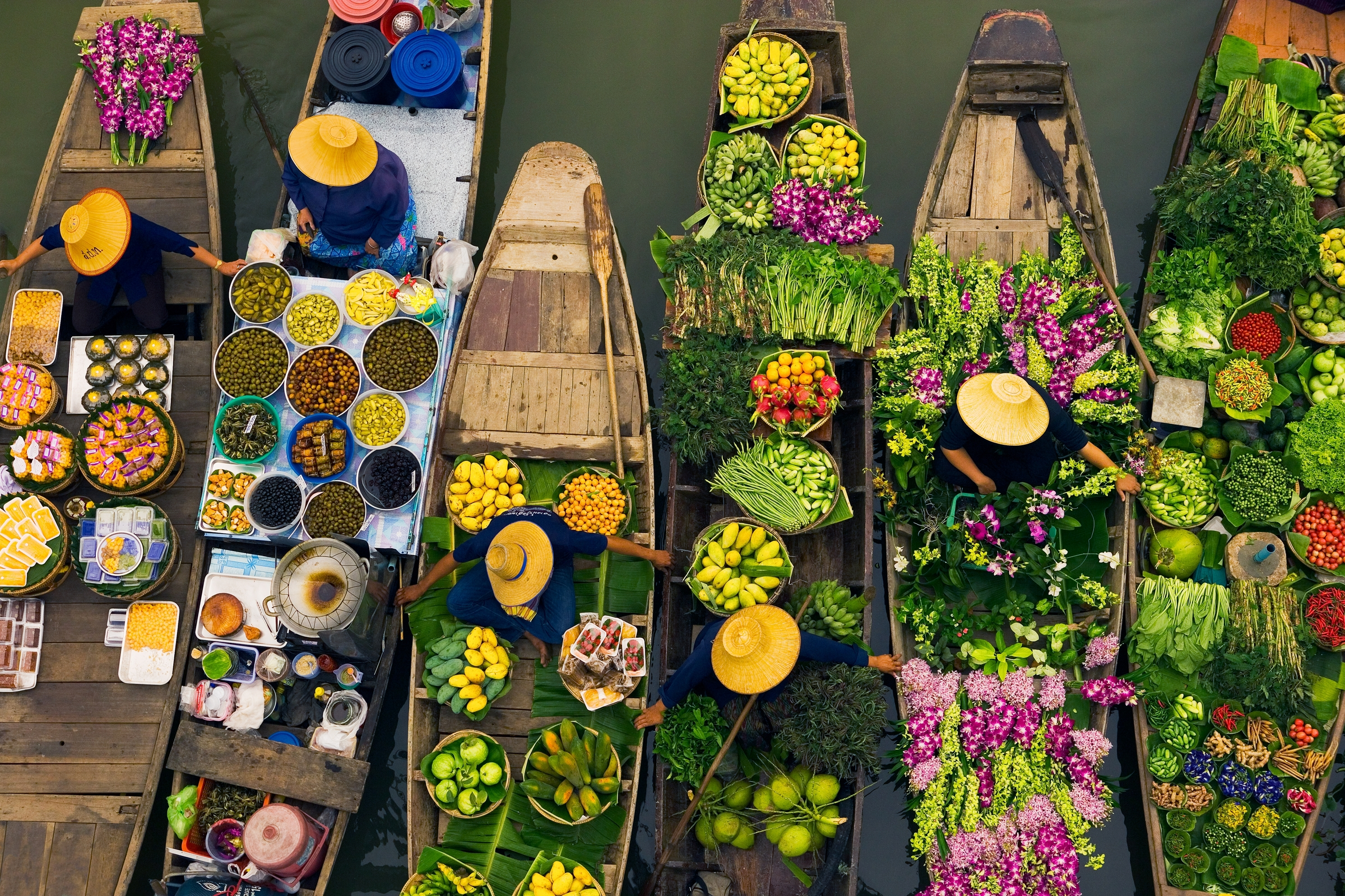 Art Wolfe Floating Market Floating Market Art Wolfe