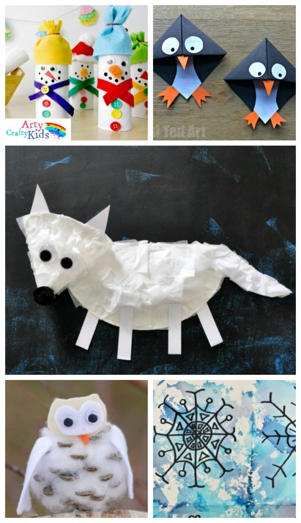 Art And Craft For Preschool 16 Easy Winter Crafts For Kids Arty Crafty Kids