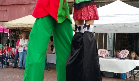 Elf Stilt Walker