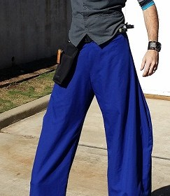 Blue stilt pants