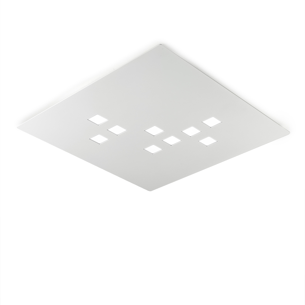 Extra Flache Dimmbare Led Deckenleuchte Made In Italy