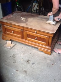 Refinishing a Coffee Table | ARTZCOOL'S BLOG!