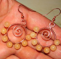 How to make wire spiral and bead earrings   Art-Z Jewelry