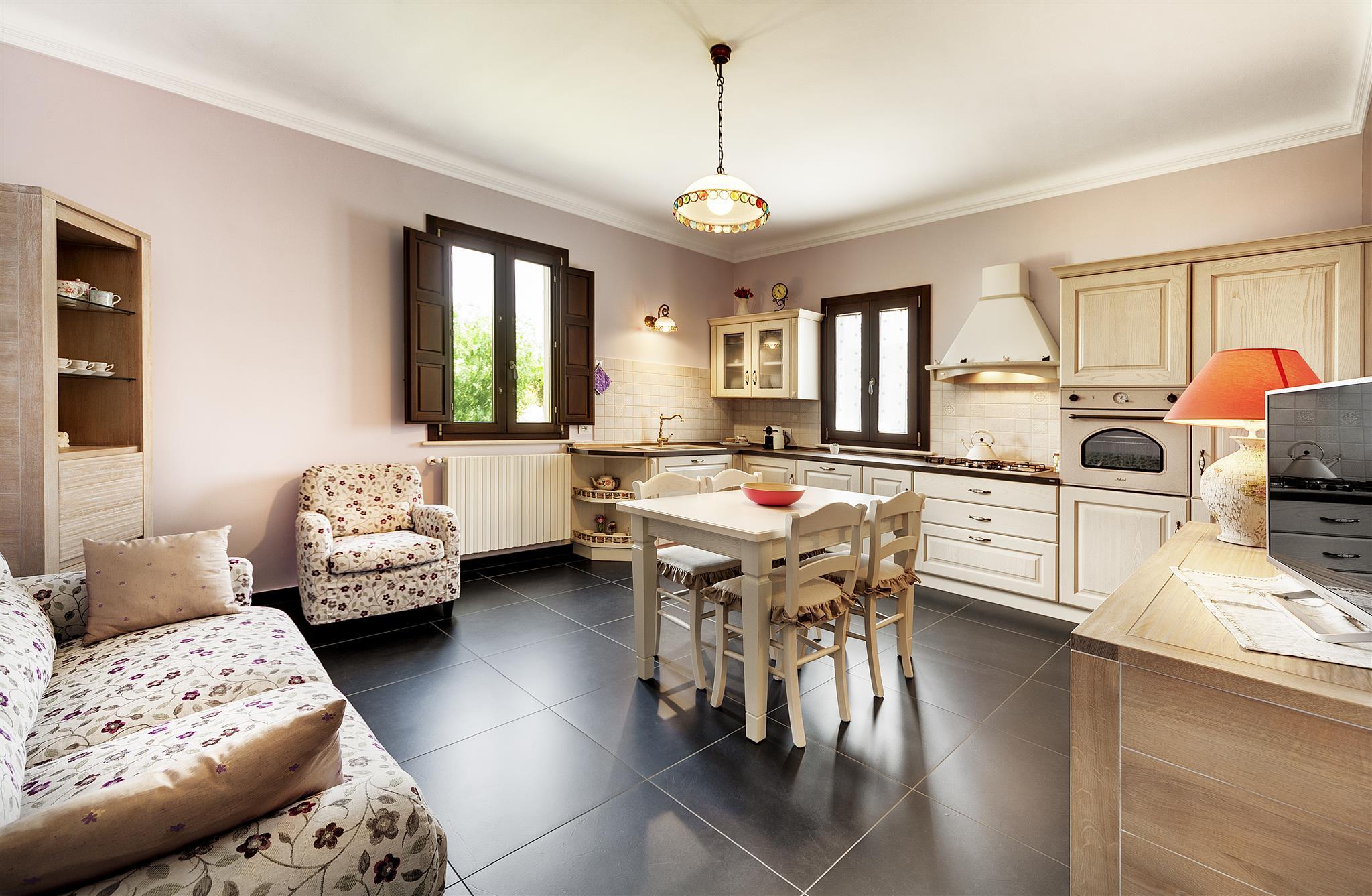 Cucina+soggiorno+camera Da Letto