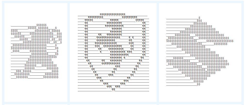 Text Art Symbols - Clipart Vector Illustration \u2022 - cool copy and paste art