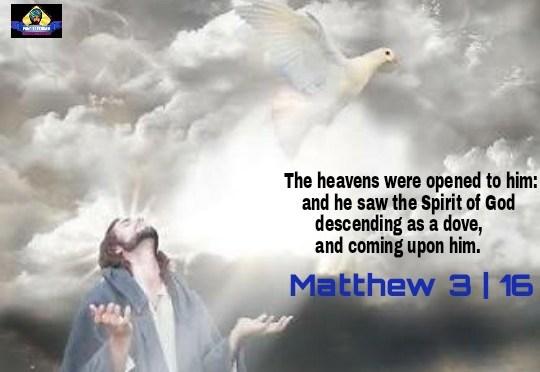 ईसाईयत समीक्षा : आकाश खुला और यहोवा का आत्मा कबूतर की तरह नीचे उतरा