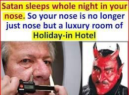 शैतान रात में मोमिनों के नाक में ठहरता है!