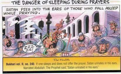 इस्लाम समीक्षा : जहाँ शैतान करता है कानों में पेशाब