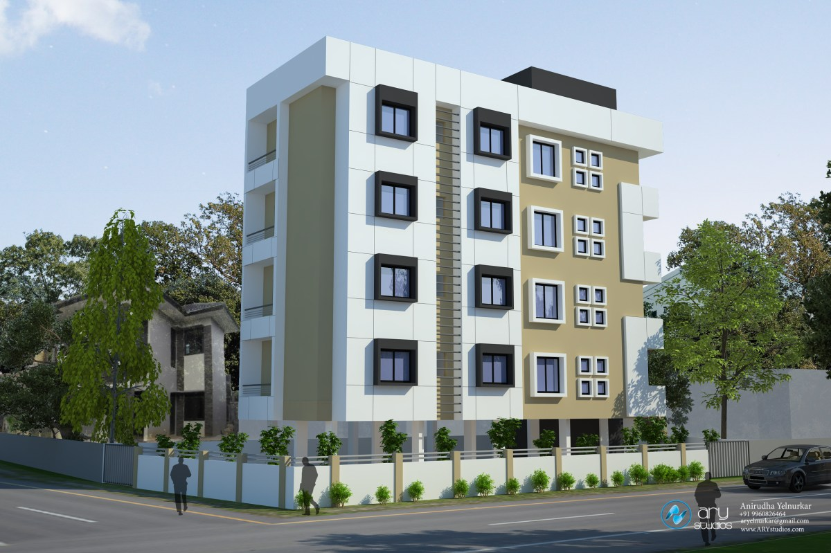 3d Appartement 3d Apartment Building Elevation Done By Ary Studios