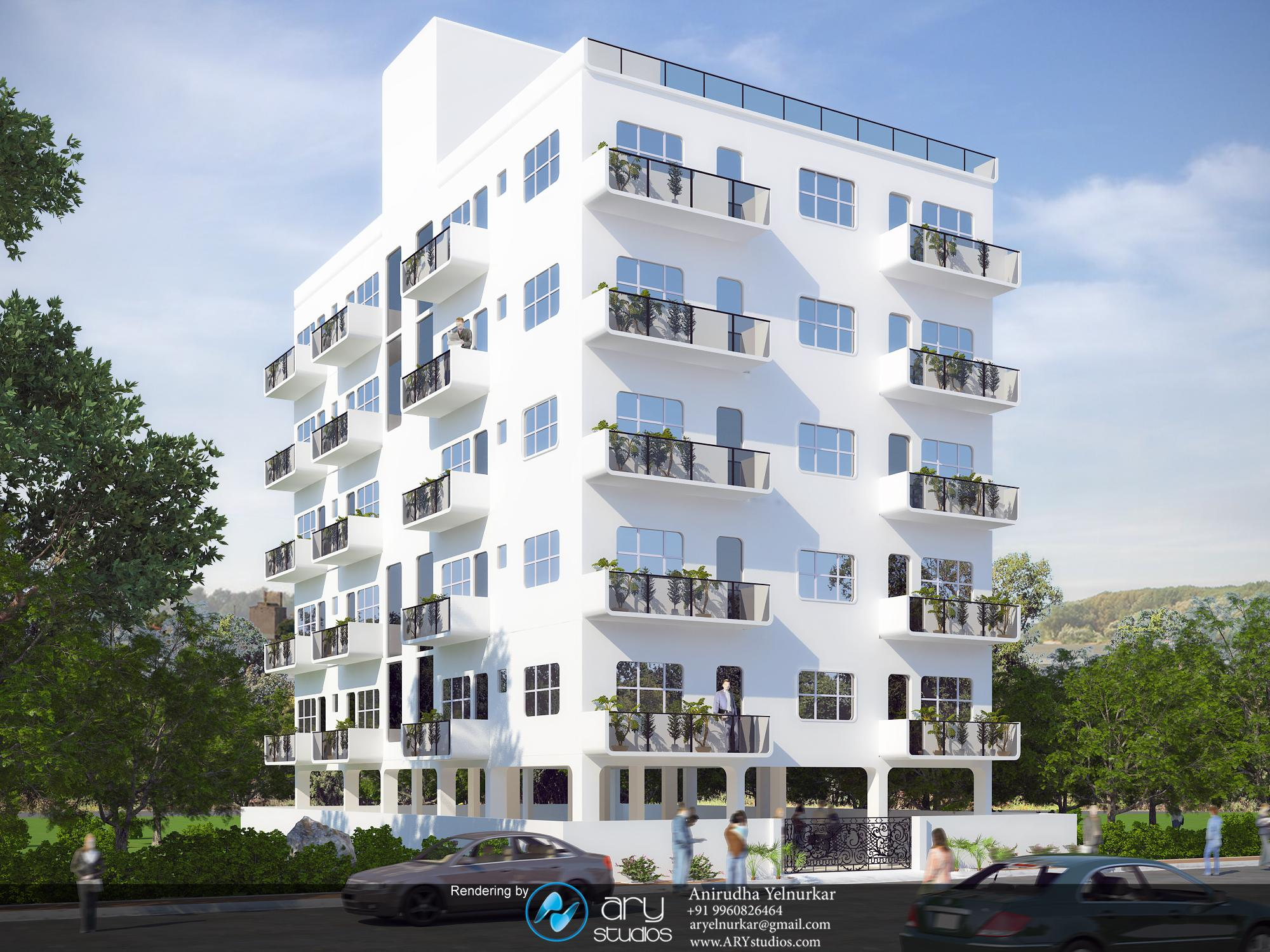 3d Appartement 3d Architectural Rendering Of Modern Apartment Building