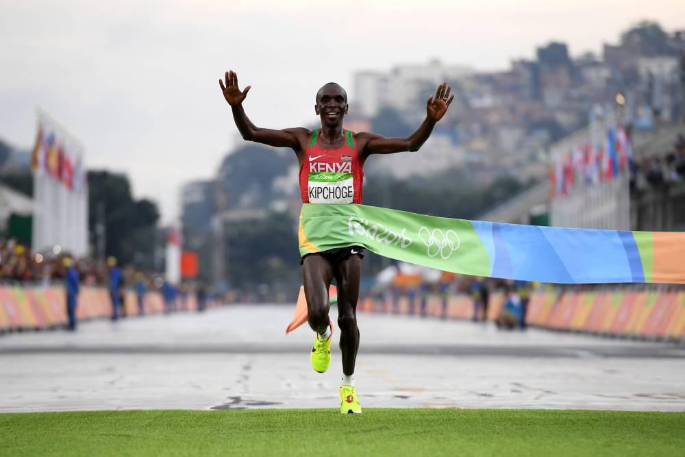 Michigan State Hd Wallpaper Rio 2016 Eliud Kipchoge Wins Marathon Gold For Kenya In