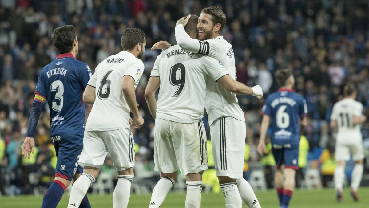 Sofa Score Real Madrid Barcelona Real Madrid Benzema Breaks Huesca S Hearts At The End As
