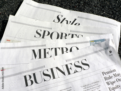 newspaper - newspaper sections - Buy this stock photo and explore