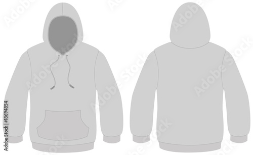 Hooded sweater template vector illustration - Buy this stock vector