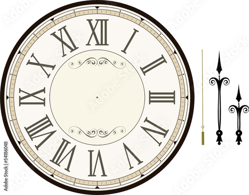vintage clock face template vector - Buy this stock vector and