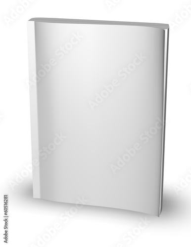 3d empty paper magazine, diary template standing - Buy this stock - diary paper template