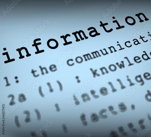 Information Definition Shows Customer Service Instructions And F