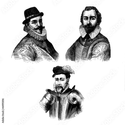 3 Men - 16th century - Buy this stock illustration and explore