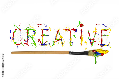 Colorful paint painted word creative - Buy this stock photo and