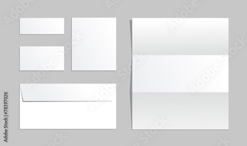Office paper of different types Business set Envelope, cards - Buy