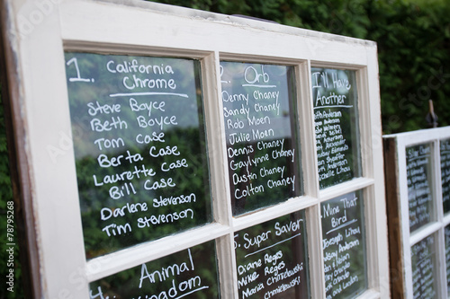 wedding seating chart on glass old window idea - Buy this stock