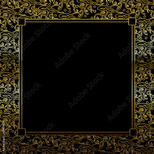 Fancy Decorative square Background - Black/Gold with Insert - Buy