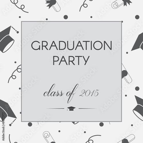 Graduation Celebrating Invitation or Postcard Background - Buy this
