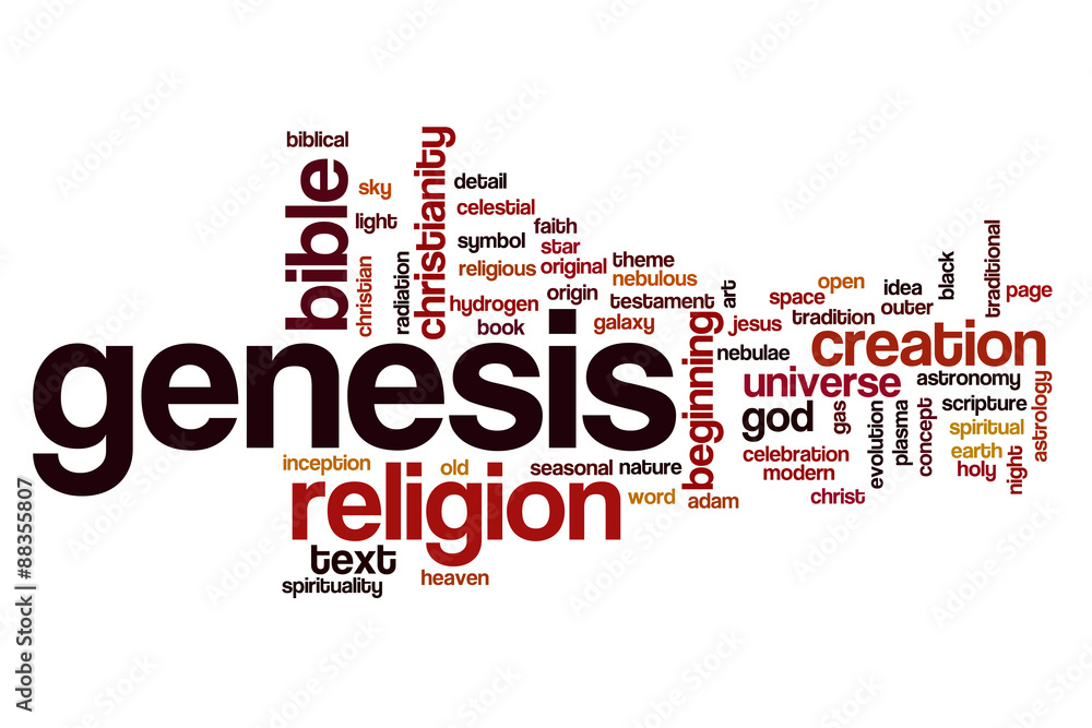 Photo  Art Print Genesis word cloud concept EuroPosters