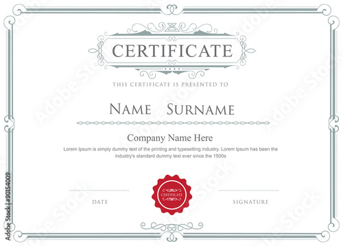 Certificate border vector elegant flourishes template - Buy this - Free Printable Certificate Border Templates
