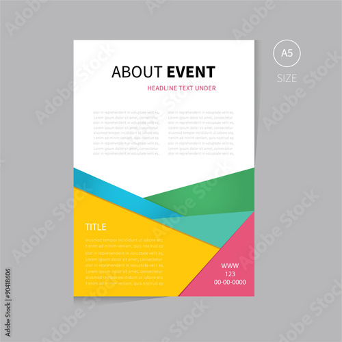 Vector brochure flyer template design a5 size - Buy this stock