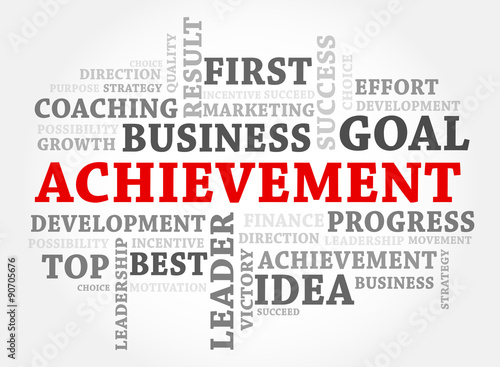 Achievement words concept, Business concept - Buy this stock vector - words for achievement