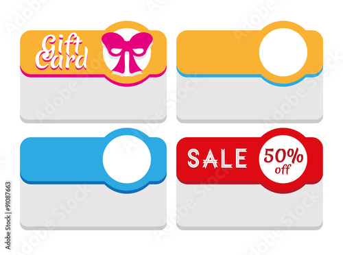 Vector Template for Labels, Tags, Stickers, Coupon, Etc To create