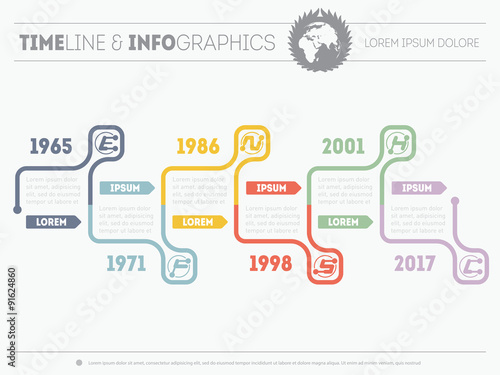 Time line of tendencies and trends Vector Infographic timeline