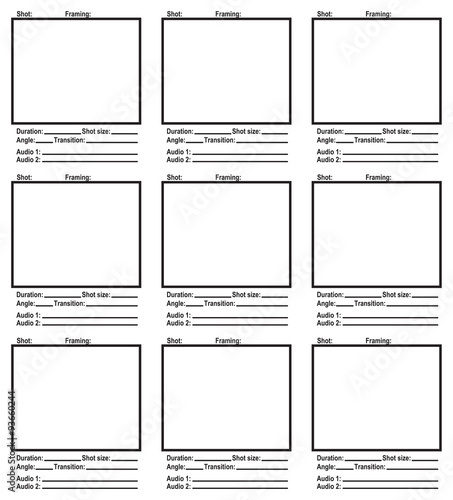 Script storyboard - Buy this stock vector and explore similar