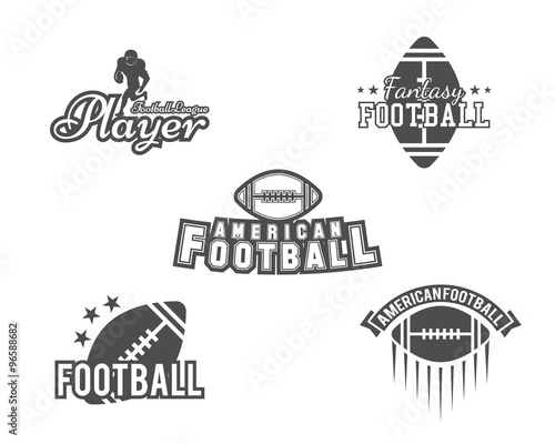 College rugby and american football team, college badges, logos