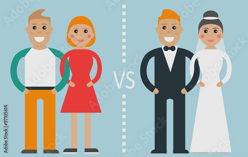 Type of relationships common-law relationships (or cohabitation) vs