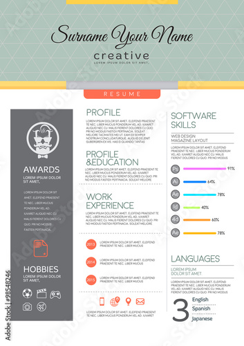 Vector resume template - Buy this stock vector and explore similar - adobe resume template