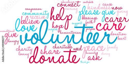 Volunteer Word Cloud - Buy this stock vector and explore similar