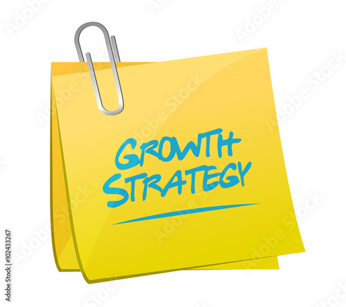 Growth Strategy memo post sign - Buy this stock illustration and