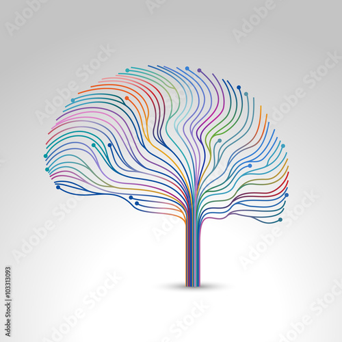 Creative concept of the brain, vector illustration - Buy this stock