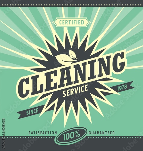 Vintage ad design for cleaning service - Buy this stock vector and