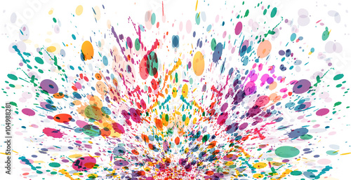 Abstract color splash banner, background design - Buy this stock