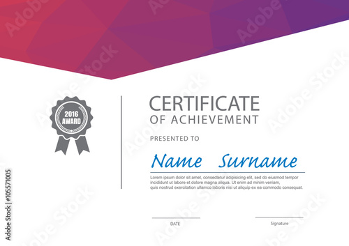 modern certificate template ,diploma layout - Buy this stock vector - certificate layout