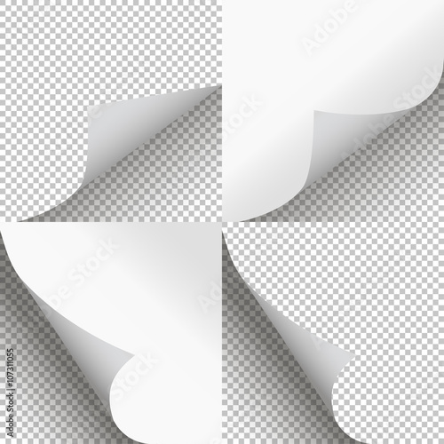 Pages curl set stylish illustration vector design - Buy this stock - Culring Pajis