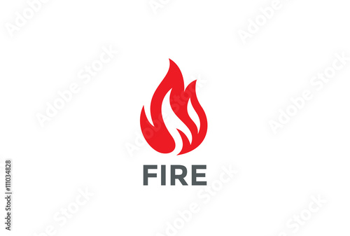 Fire Flame Logo design vector Bonfire Silhouette Logotype icon - flame logo