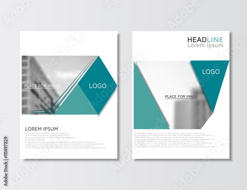 Annual report, brochure empty layout flyer template Leaflet design