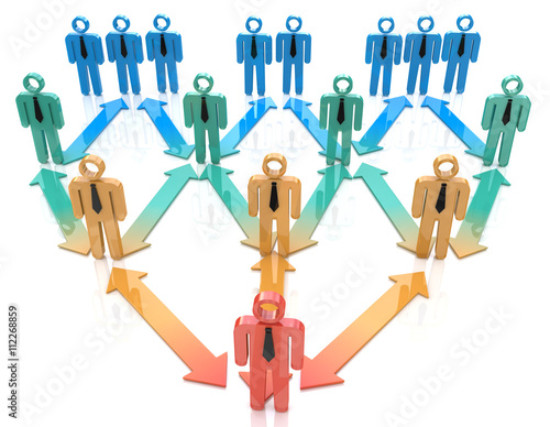 Team leader organization hierarchy - Buy this stock illustration and