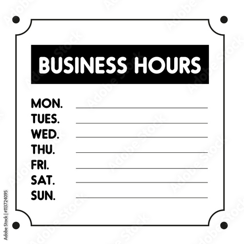 Business Hours sign vector template - Buy this stock vector and